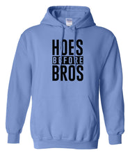 Load image into Gallery viewer, blue hoes before bros pullover hoodie