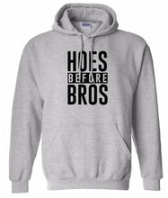 Load image into Gallery viewer, grey hoes before bros pullover hoodie
