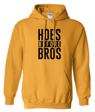 Load image into Gallery viewer, yellow hoes before bros pullover hoodie