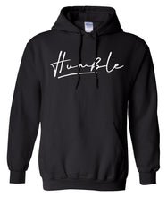 Load image into Gallery viewer, black humble pullover hoodie