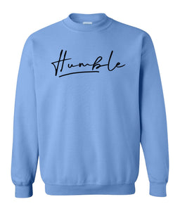 blue humble sweatshirt
