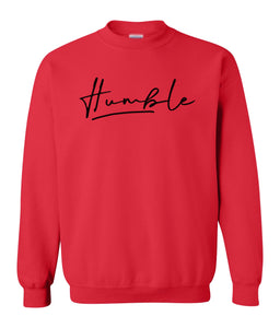 red humble sweatshirt