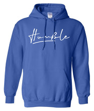 Load image into Gallery viewer, blue humble pullover hoodie