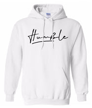 Load image into Gallery viewer, white humble pullover hoodie