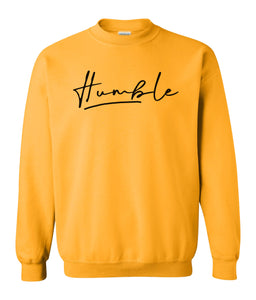 yellow humble sweatshirt
