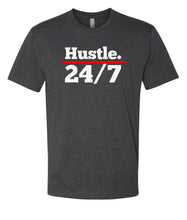 Load image into Gallery viewer, charcoal hustle 24/7 crewneck t shirt