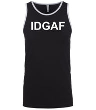 Load image into Gallery viewer, black idgaf mens tank top