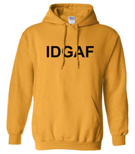 Load image into Gallery viewer, yellow idgaf mens pullover hoodie