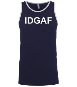 navy idgaf mens tank top