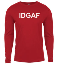 Load image into Gallery viewer, red idgaf mens long sleeve shirt