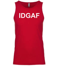 Load image into Gallery viewer, red idgaf mens tank top