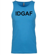 Load image into Gallery viewer, blue idgaf mens tank top