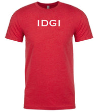 Load image into Gallery viewer, red idgi mens crewneck t shirt