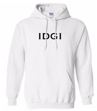 Load image into Gallery viewer, white idgi mens pullover hoodie