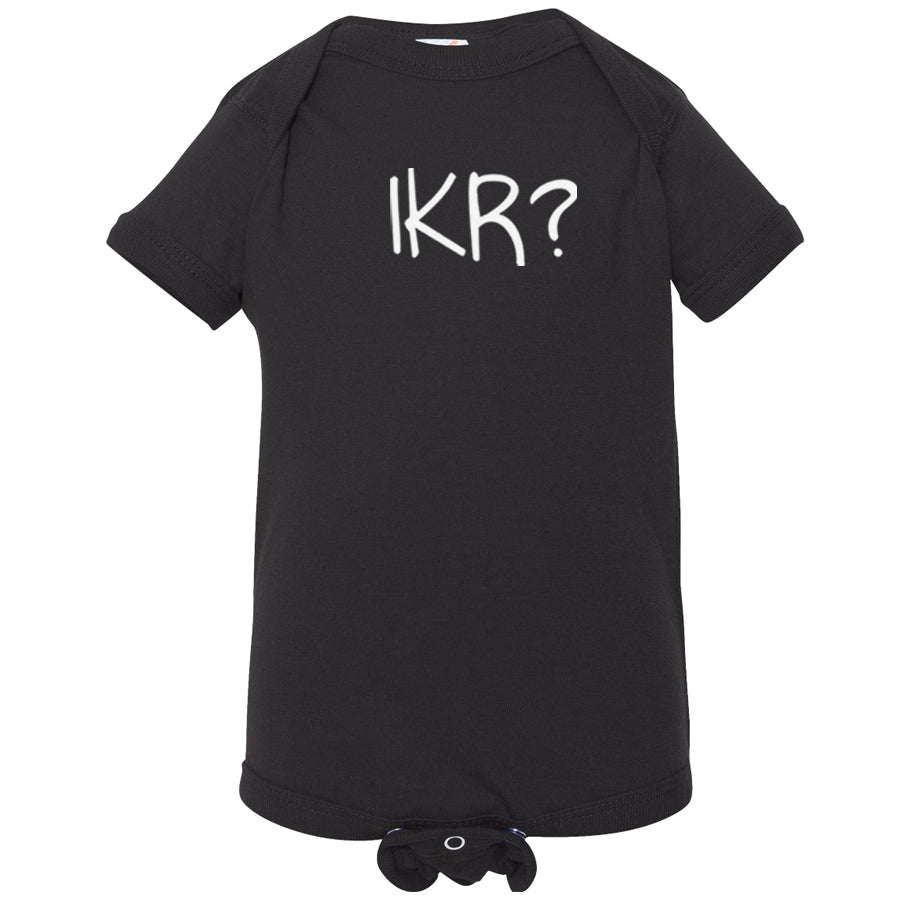 black IKR onesie for babies