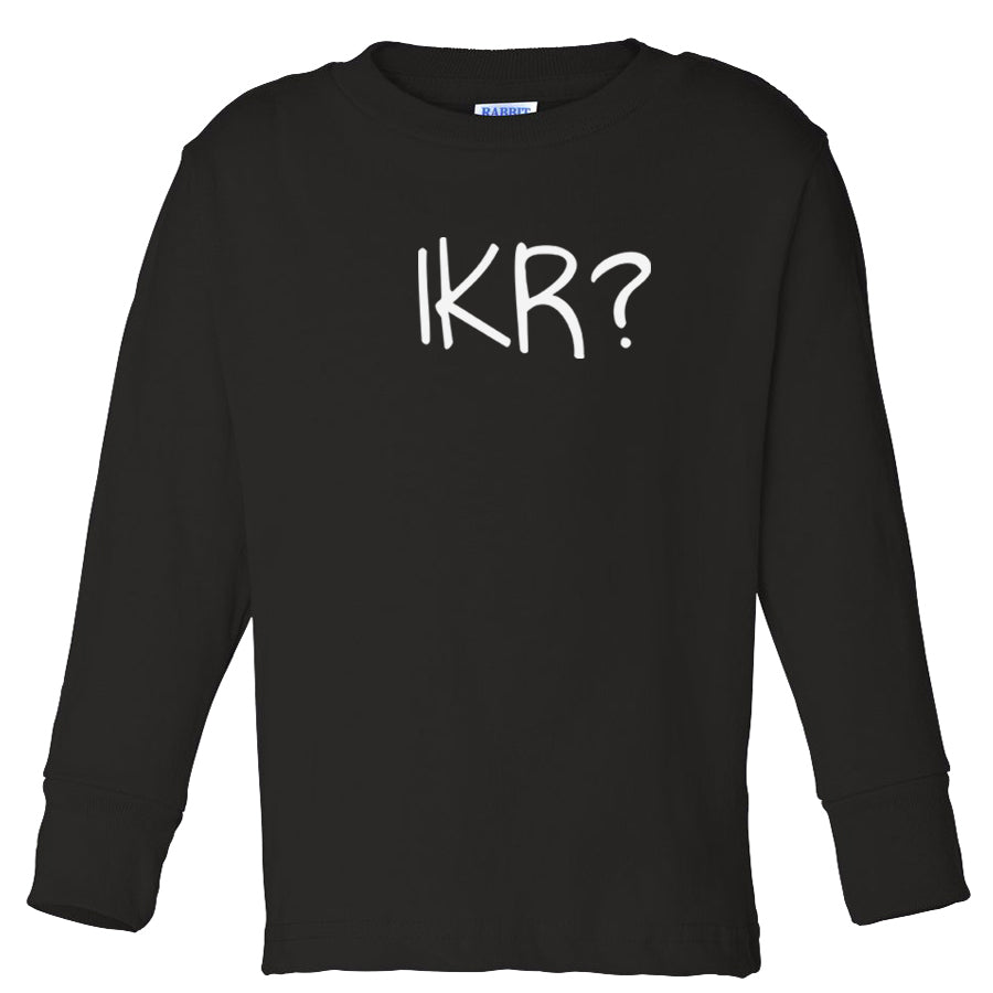 black IKR long sleeve t shirt for toddlers