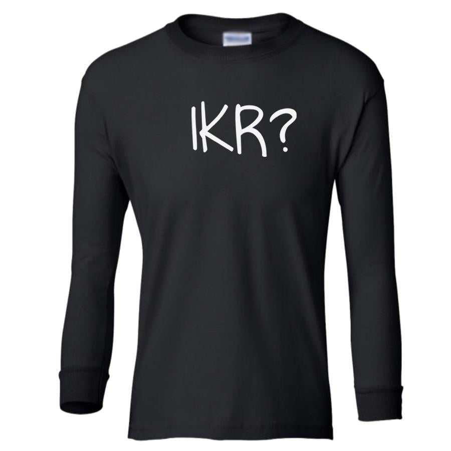 black IKR youth long sleeve t shirt for girls