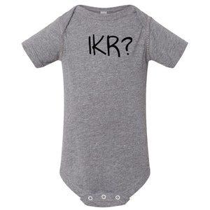 grey IKR onesie for babies