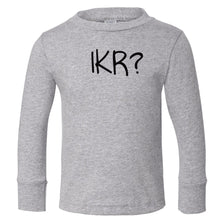 Load image into Gallery viewer, grey IKR long sleeve t shirt for toddlers