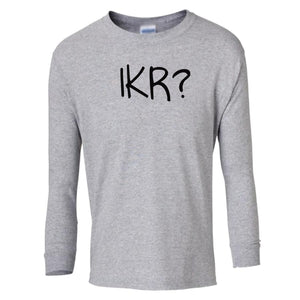 grey IKR youth long sleeve t shirt for girls