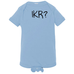 blue IKR onesie for babies