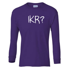 Load image into Gallery viewer, purple IKR youth long sleeve t shirt for girls