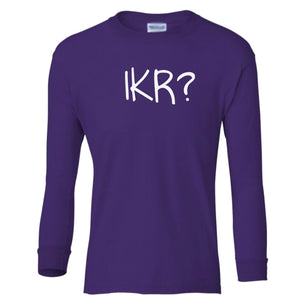 purple IKR youth long sleeve t shirt for girls