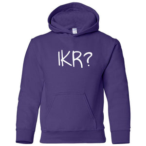 purple IKR youth hooded sweatshirts for girls