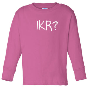 pink IKR long sleeve t shirt for toddlers