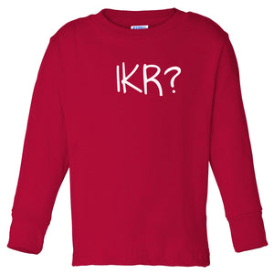 red IKR long sleeve t shirt for toddlers