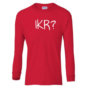 red IKR youth long sleeve t shirt for boys