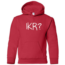 Load image into Gallery viewer, red IKR youth hooded sweatshirt for boys
