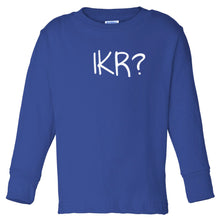 Load image into Gallery viewer, blue IKR long sleeve t shirt for toddlers