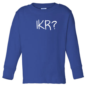 blue IKR long sleeve t shirt for toddlers