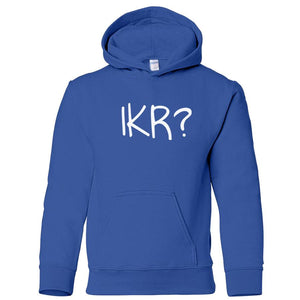 blue IKR youth hooded sweatshirt for boys
