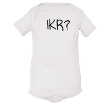 Load image into Gallery viewer, white IKR onesie for babies