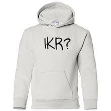 Load image into Gallery viewer, white IKR youth hooded sweatshirts for girls