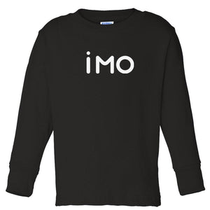 black IMO long sleeve t shirt for toddlers