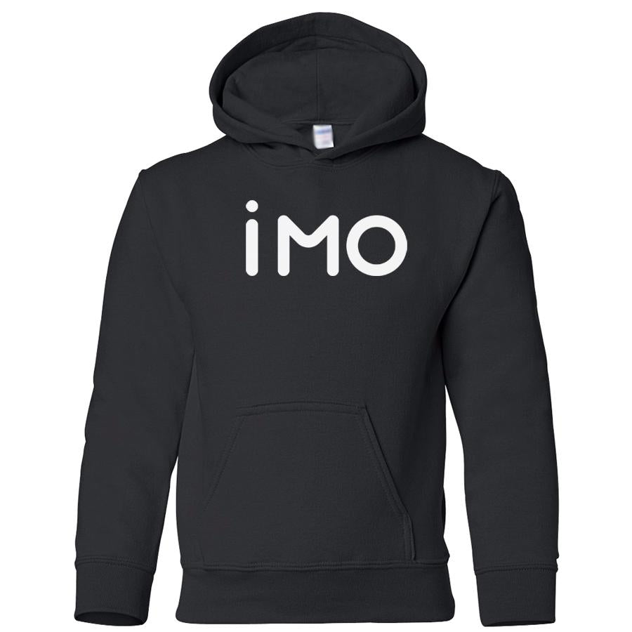 black IMO youth hooded sweatshirt for boys