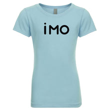 Load image into Gallery viewer, blue IMO youth crewneck t shirt for girls