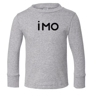 grey IMO long sleeve t shirt for toddlers