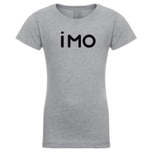 Load image into Gallery viewer, grey IMO youth crewneck t shirt for girls