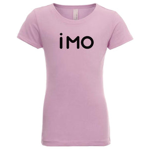 pink IMO youth crewneck t shirt for girls