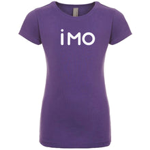 Load image into Gallery viewer, purple IMO youth crewneck t shirt for girls
