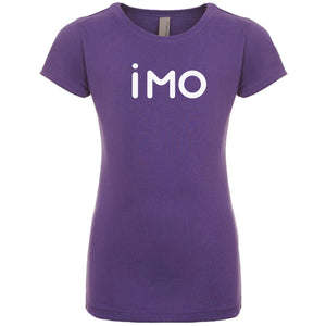 purple IMO youth crewneck t shirt for girls