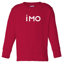 Load image into Gallery viewer, red IMO long sleeve t shirt for toddlers