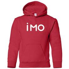 Load image into Gallery viewer, red IMO youth hooded sweatshirt for boys