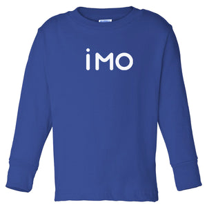 blue IMO long sleeve t shirt for toddlers