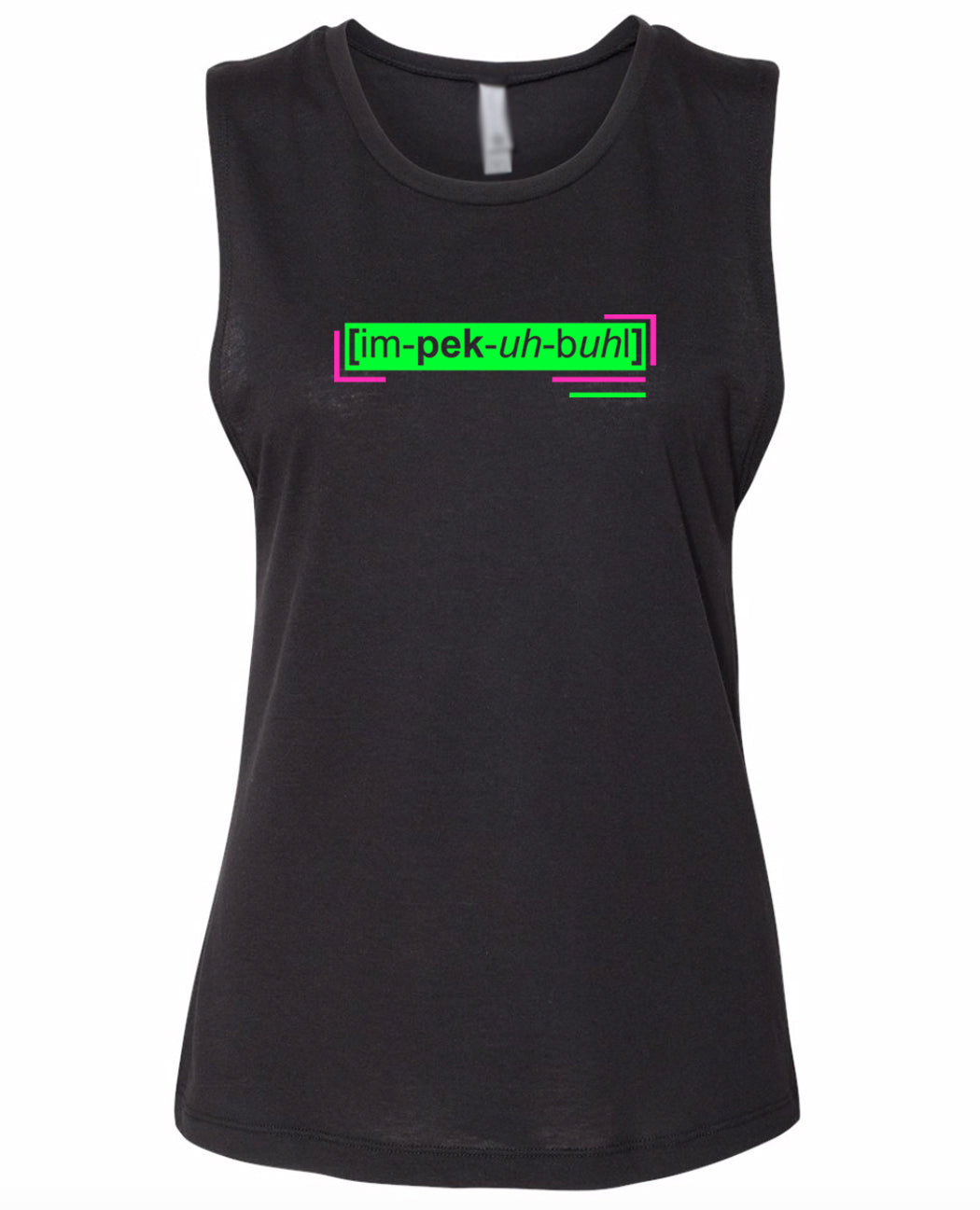 florescent green impeccable neon streetwear tank top for women