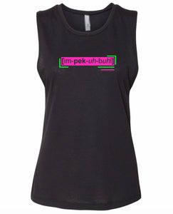 florescent pink impeccable neon streetwear tank top for women